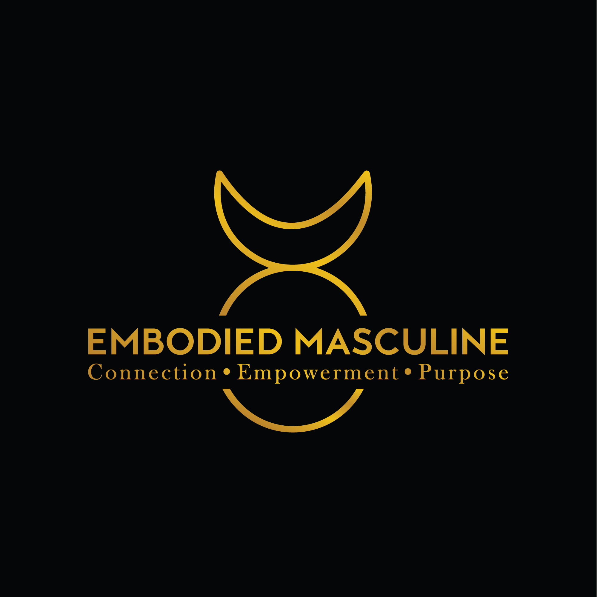 Embodied Masculine Logo (TM) Protected